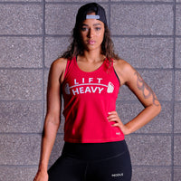 LIFT HEAVY Tank Top- Red / White