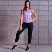 LIFT HEAVY Tank Top- Lavender / White