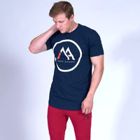 LOGO Scoop Tee- Navy