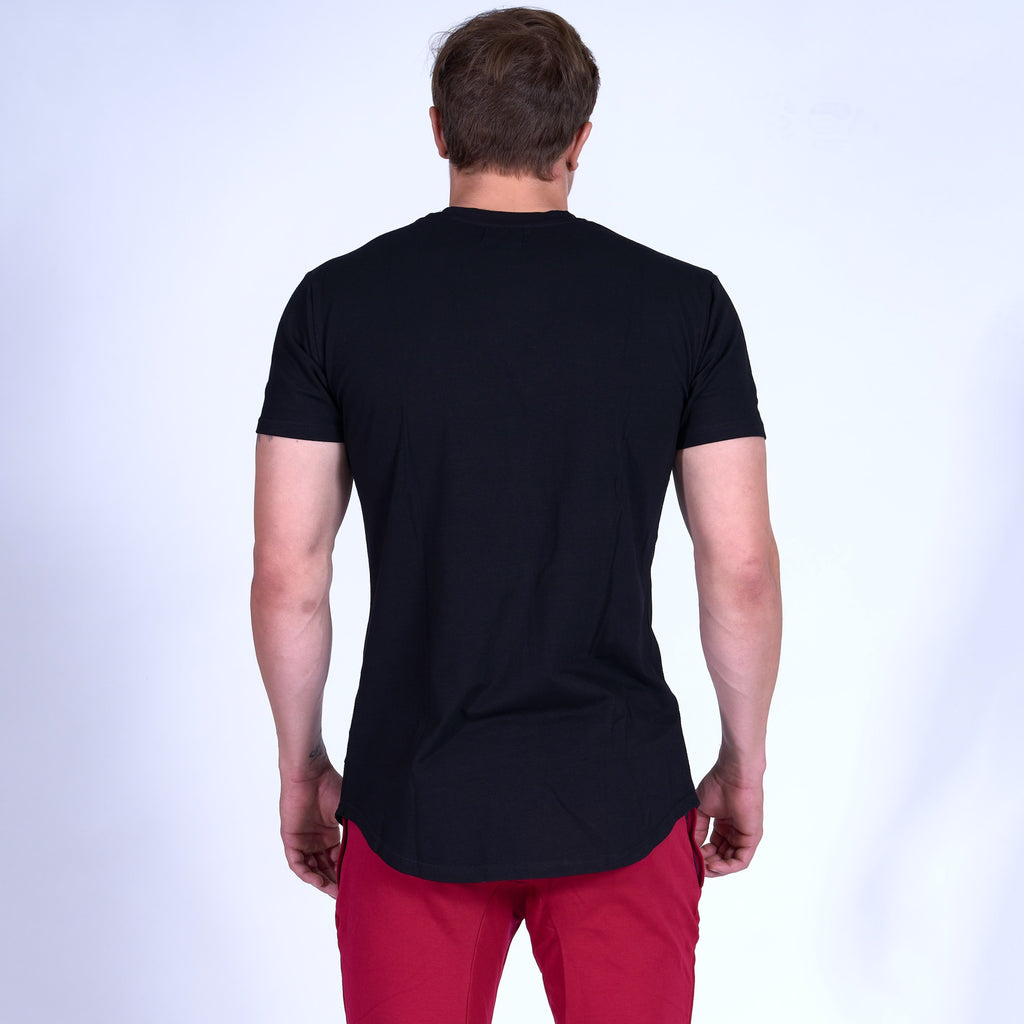 Energy GRAPHIC Scoop Bottom Tee- Black