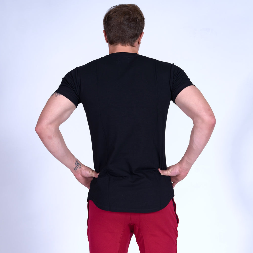 SIGNATURE Scoop Bottom Tee- Black