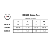 ICONIC Scoop Bottom Tee - White