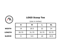 LOGO Scoop Tee- Black