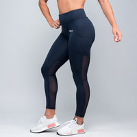 Wonder Mesh Leggings - Navy Blue