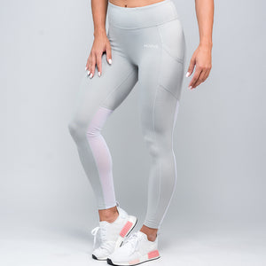 Wonder Mesh Leggings - Stone Grey