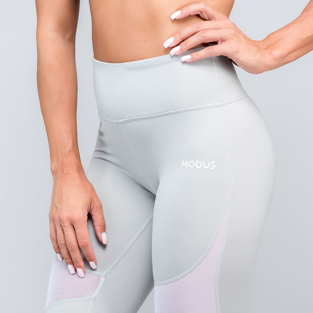 Reveal Mesh Leggings - Stone Grey