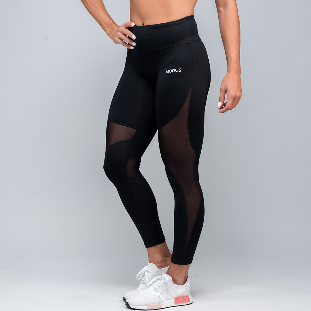 Reveal Mesh Leggings - Black