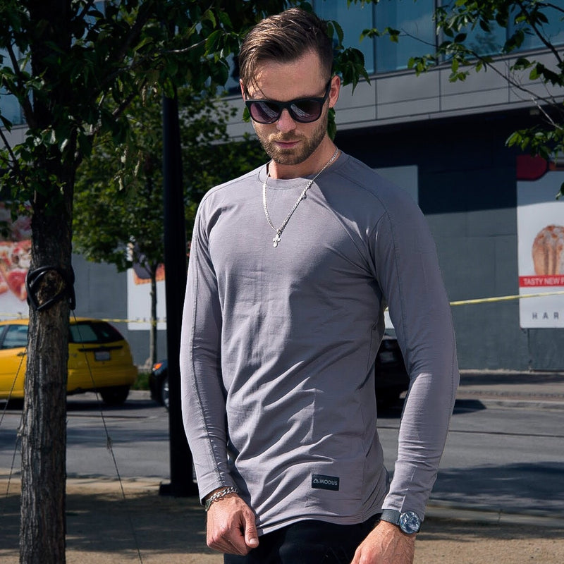 Tech Stitch Long Sleeve - Carbon Grey