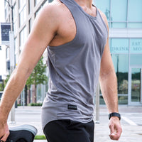 Desire Scoop Tank - Carbon Grey