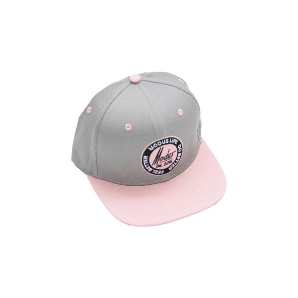 Established SnapBack - Grey / Rose Quartz Pink
