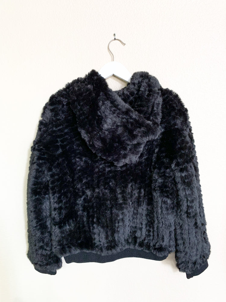 Peri Black Faux Fur Jacket