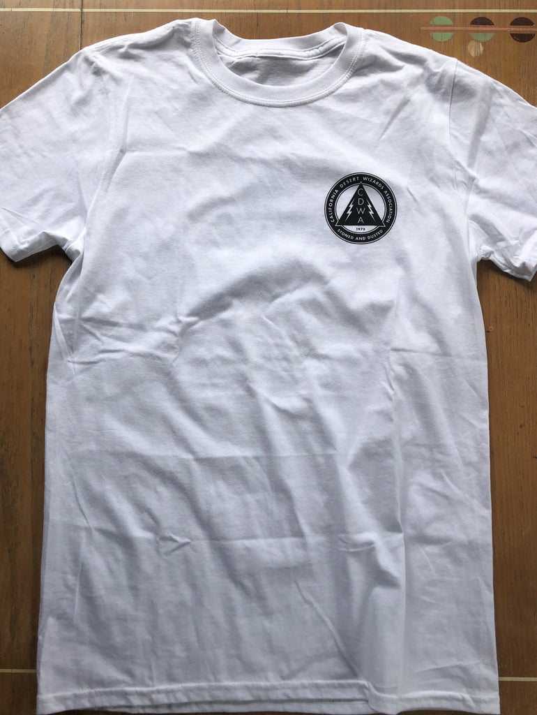 White Concert Tee (small front logo)