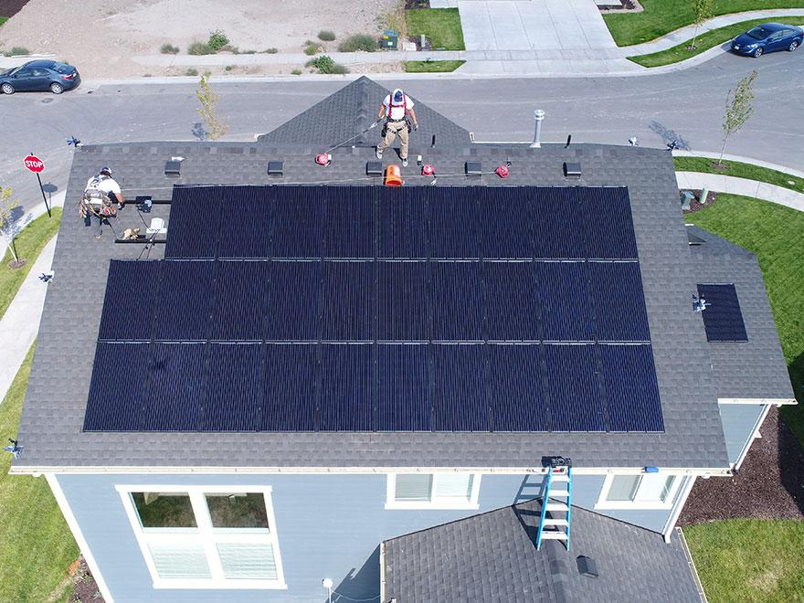 Customer Footage: Solar Panel Installation Time Lapse on a Residential Home