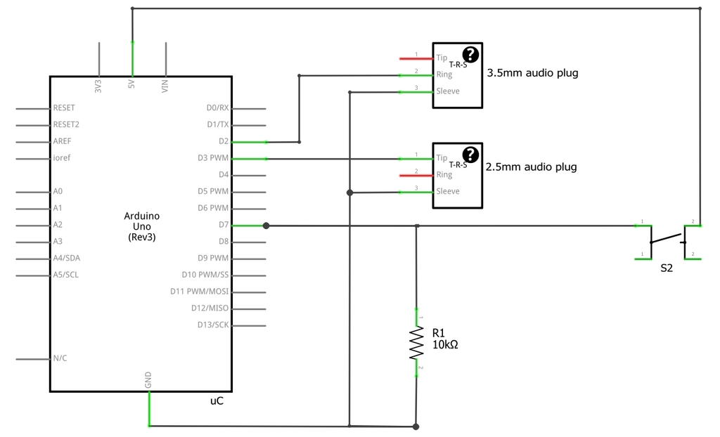 GoPro Arduino interface schematic