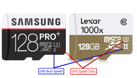 micro sd cards - Buss Seed & UHS Speed Class disks