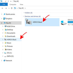 View GoPro camera in File Explorer