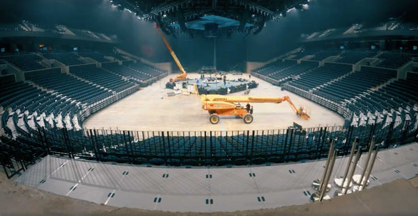Metallica Stage Construction Time Lapse