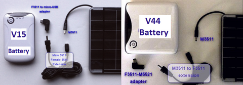 V15 and V44 External Batteries for GoPro Cameras
