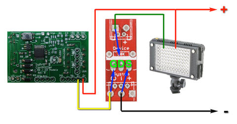 Using a MOSFET to control an LED light