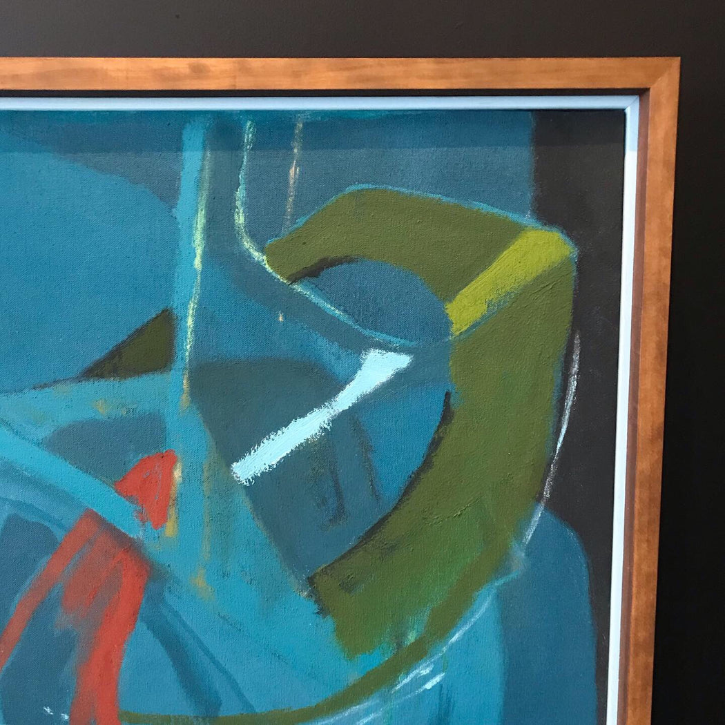 Original Abstract Painting: Breaking Glass