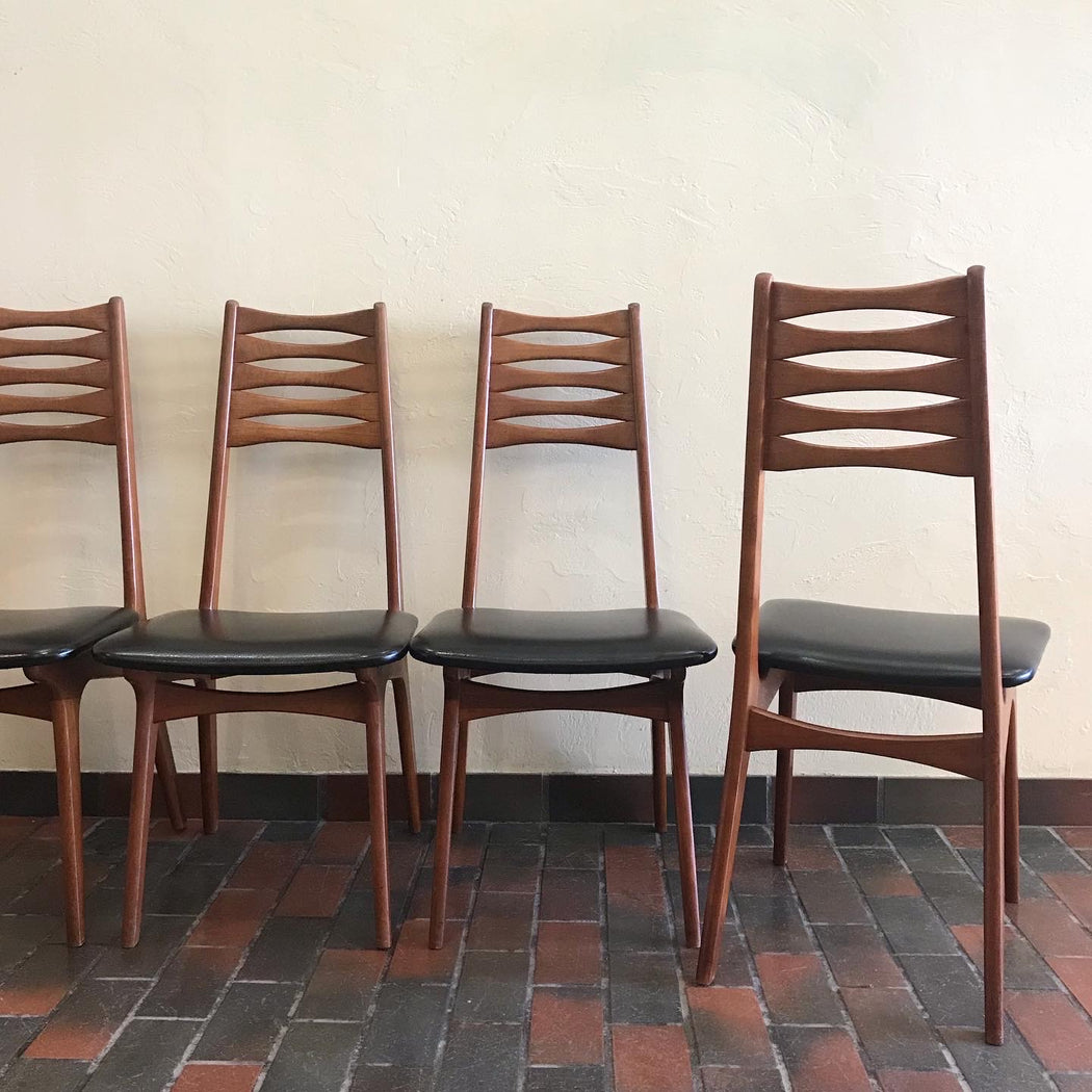 Sold • Set of 4 Boltinge Stolefabrik Dining Chairs