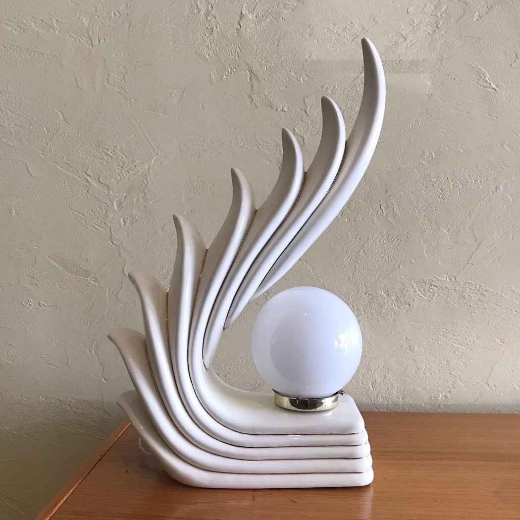 SOLD • 80s Deco Lamp