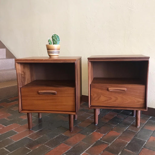 Jan Kuypers Solid Teak Nightstands