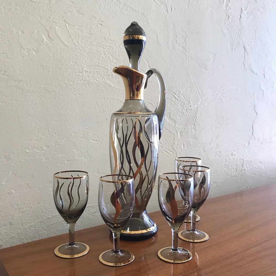 Bohemia Crystal Decanter + Glasses