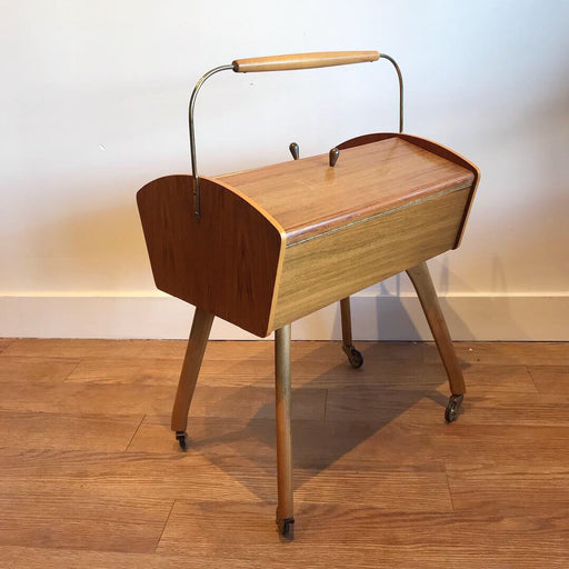 Teak + Brass Sewing Box
