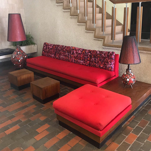 1960s Sectional Sofa + Tables