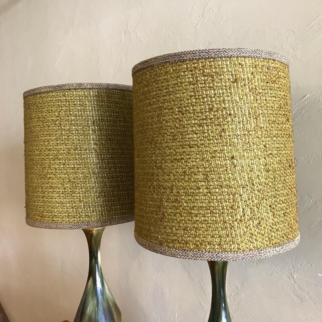Gold + Green Ceramic Lamps *on hold*
