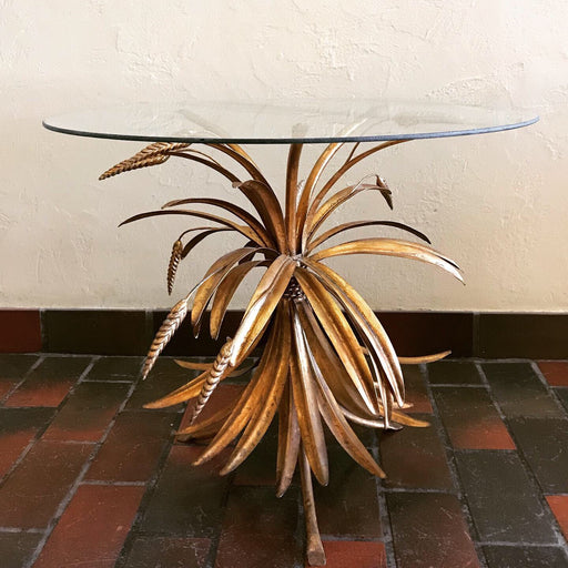 Gold Wheat Sheaf Side Table