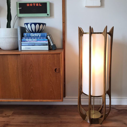Modeline Walnut Floor Lamp