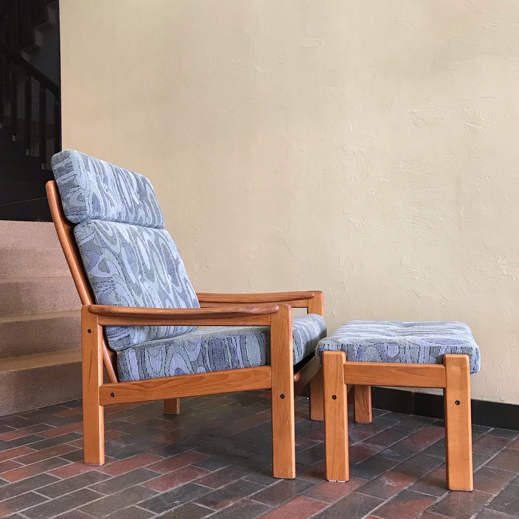 Teak Lounge Chair + Ottoman
