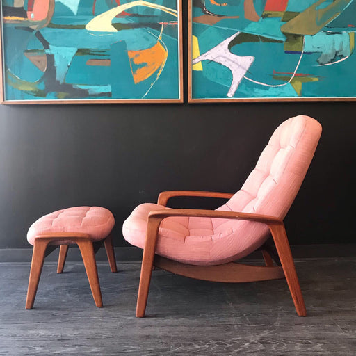 R. Huber Scoop Chair + Ottoman *on hold*