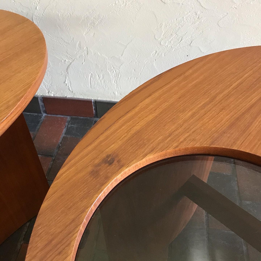 RS Associates Teak Side Tables