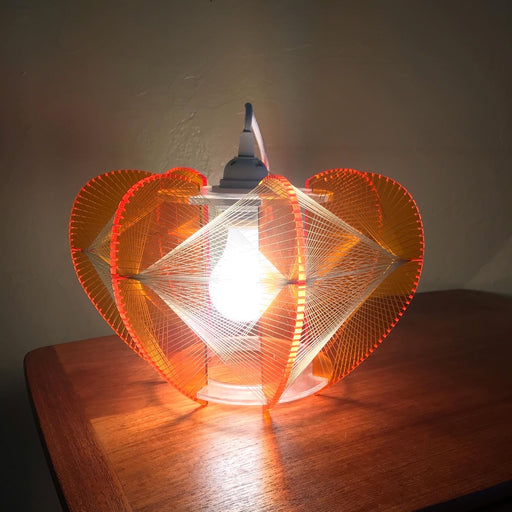 Orange Lucite + String Swag Lamps *on hold*