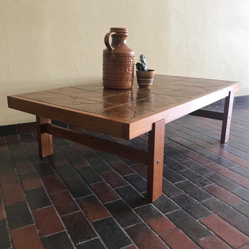 SALE: 1970s Teak + Tile Coffee Table