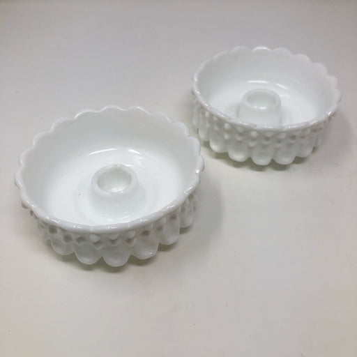 Pretty Milk Glass Candle Holders