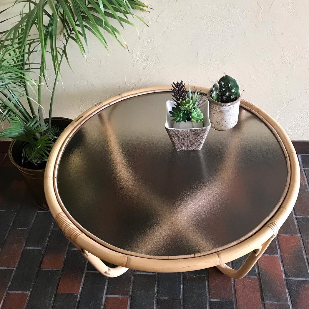 SALE: Boho Bamboo Table
