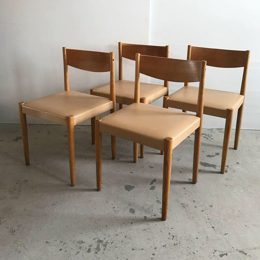 Frem Rojle Danish Oak Chairs