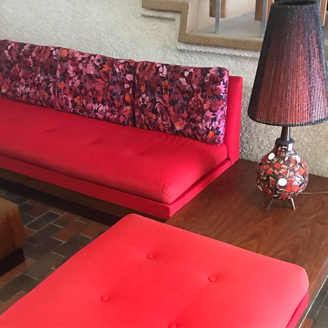 SALE: 1960s Sectional Sofa + Tables