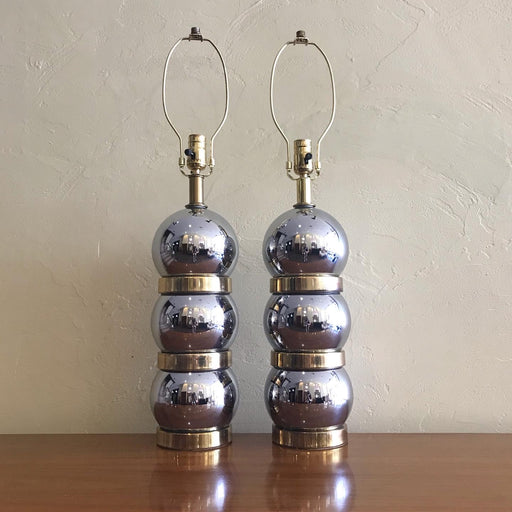 Chrome + Brass Ball Lamps