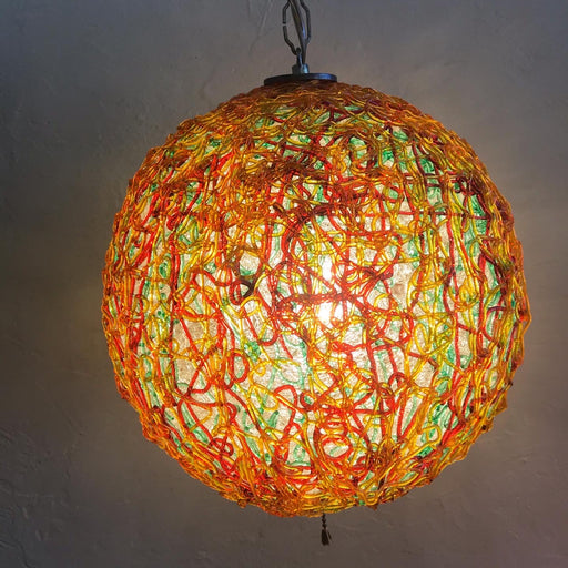 Sold • Spaghetti Swag Lamp