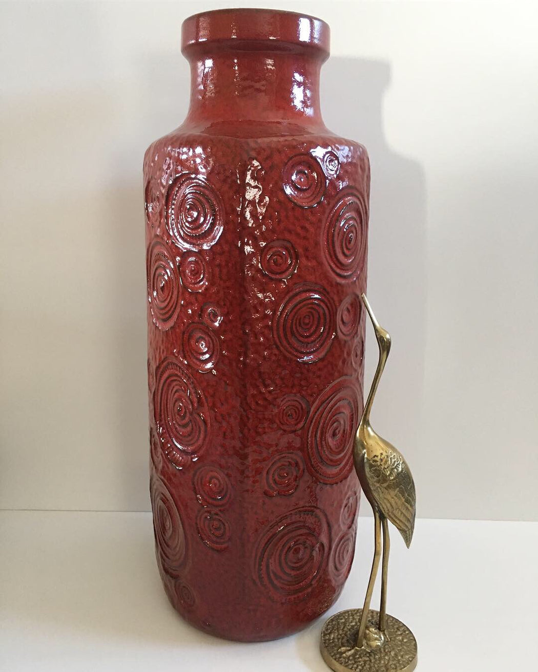 Large Red West German Vase