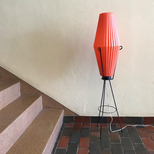 Atomic Orange Rocket Floor Lamp