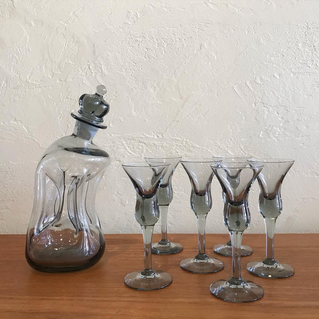 "Holmegaard ""Drunk King"" Kluk Kluk Decanter"
