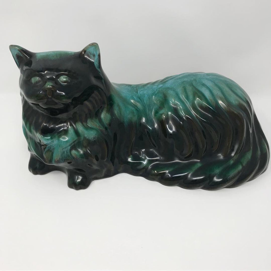Big Blue Mountain Pottery Cat