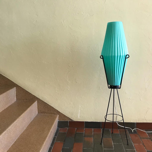Atomic Teal 1950s Floor Lamp