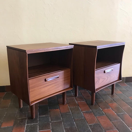 Sold • Jan Kuypers Solid Teak Nightstands